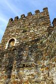 Detal ściany zamku i wieży — Zdjęcie stockowe