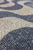 Detail of a typical portuguese pavement at Lisbon, Portugal — Stock Photo