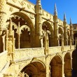 Detail of the cloister of the portuguese Hieronymites Monastery — Stock Photo
