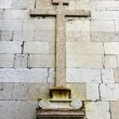 Detail of a cross at Lisbon — Foto Stock