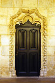 Detail of an old door at the Hieronimites MOnastery, Lisbon, Por — Stock Photo