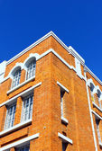 Detail of an old brick building at Lisbon, Portugal — Stock Photo