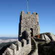 Detail of the Moors Castle at Sintra, Portugal - Stock Photo