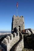 辛特拉,葡萄牙在摩尔城堡的详细信息 — 图库照片