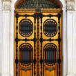 Detail of an old door at Lisbon, Portugal - Stock fotografie