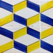 Stock Photo: Detail of some typical portuguese tiles (azulejos) at Lisbon