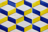 Detail of some typical portuguese tiles (azulejos) at Lisbon — Stock Photo