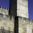 Detail of the Saint George Castle at Lisbon, Portugal — Foto Stock