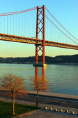 The Tagus and the Bridge, Lisbon, Portugal — Stock Photo