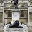 Stock Photo: Statue of Oliver Cromwell at London, England