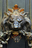 Detail of a door with a lion — Stock Photo