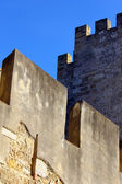 Detail of the Saint George Castle at Lisbon, Portugal — Stock Photo