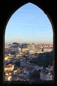 Powiększenie okna w saint george zamek, lizbona, portugalia — Zdjęcie stockowe