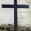 Detail of a black iron cross — Stock Photo