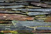 Détail d'un vieux mur de schiste — Photo