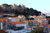 Castle of Saint George Castle, Lisbon, POrtugal — Stock Photo