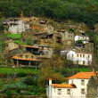 Small typical mountain village of schist - Stock Photo
