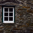 Detail of an old schist house — Stock Photo