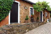 Detail of a street of an old portuguese village — Stock Photo