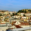 Stock Photo: View over the Castle hill and the downtown, Lisbon, Portugal