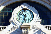 Detail of a clock on the facade of a building — Stock Photo