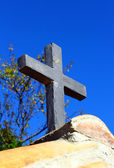 Stone cross background — Stock Photo