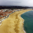 View over Nazare at Portugal - Stock Photo