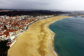 View over Nazare at Portugal — 图库照片