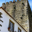 Castle of Obidos, Obidos, Portugal - Stock Photo