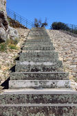 Detail of a stone stairway — Stock Photo