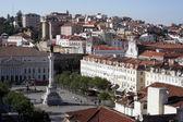 Rossio square, Lisbon, Portugal — Stock Photo