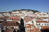 Downtown and Castle of Saint George, Lisbon, Portugal — Stock Photo