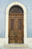 Detail of an old door, Lisbon, Portugal — Stock Photo