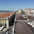 The downtown and the bridge, Lisbon, Portugal — Foto Stock