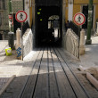 Tram rail at Bica, Lisbon, Portugal — Stock Photo