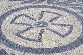 Portuguese pavement, calcada portuguesa — Stock Photo