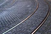 трамвай железнодорожных, лиссабон, португалия — Стоковое фото