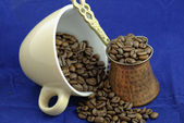 Coffee beans in cup — Stock Photo