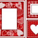 ретро, абстрактные фоторамки на день Святого Валентина — Стоковое фото