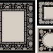 Stock Photo: Vintage, ornamental photo frames, elegant floral ornaments