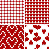 Valentine's Day, red and white retro background — Stock Photo