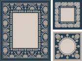 Ornamentais, vintage molduras, elegantes ornamentos florais — Foto Stock