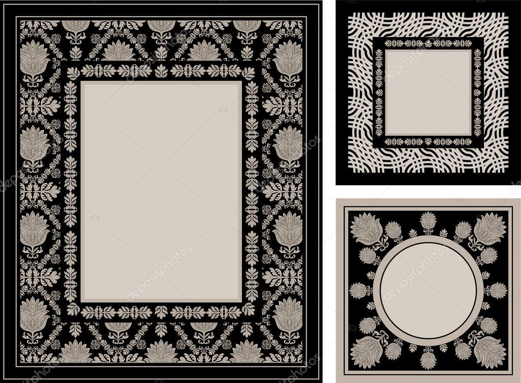 Bilderrahmen Verzieren Ornamente ~ Vintage, dekorative Bilderrahmen, eleganten floralen Ornamente