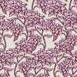 Vintage floral background, beautiful flowers, fashion seamless pattern - Stock Vector