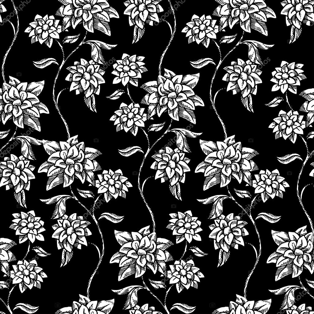 Dongetrabi Black Rose Pattern Wallpaper Images