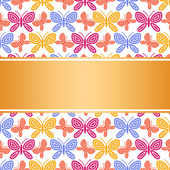 Vintage background, summer and spring style invitation, greeting — Stock Vector
