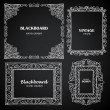 Vintage photo frames set, chalkboard design elements, drawing doodle style — Stock Vector #47878911