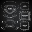 Vintage chalkboard photo frames set, drawing doodle style, ornamental, cute calligraphic design elements — Stock Vector #48233175