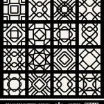 Abstract, modern backgrounds set, geometric seamless patterns, islam style ornaments — 图库矢量图片 #48233179
