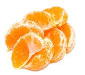 Slices peeled Orange — Stock Photo